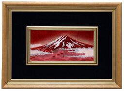 七宝焼 赤富士 伝統工芸 七宝焼 額 Picture 新赤富士 113-05