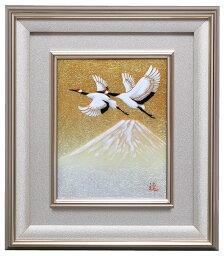 七宝焼 鶴富士 伝統工芸 七宝焼 額 Picture 富士に鶴2号  113-13