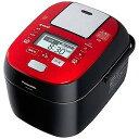 おどり炊き ECJ-XW100 パナソニック 可変圧力スチームIHジャー炊飯器(5.5合炊き)「Wおどり炊き」 SR‐SPX106‐RK (ルージュブラック)(送料無料)