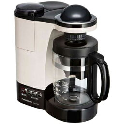 パナソニック コーヒーメーカー パナソニック ミル付き浄水コーヒーメーカー(5杯分) NC−R400−C (カフェオレ)