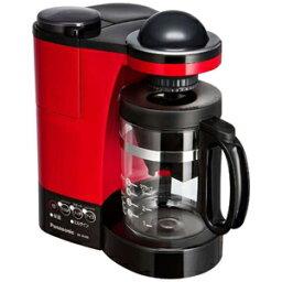 パナソニック コーヒーメーカー パナソニック ミル付き浄水コーヒーメーカー(5杯分) NC−R400−R (レッド)