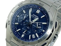 ウェーブ カシオ CASIO ウェーブセプター 電波 ソーラー 腕時計 時計 WVQ-M410DE-2A2JF ネイビー 国内正規【ポイント10倍】