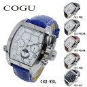 COGU 腕時計(メンズ) コグ COGU 自動巻き メンズ 腕時計 時計 C62-WBL ホワイト-シルバー/ブルー【ポイント10倍】