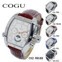 COGU 腕時計(メンズ) コグ COGU 自動巻き メンズ 腕時計 時計 C62-WRGBR ホワイト-ローズゴールド/ブラウン