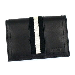 バリー バリー BALLY カードケース TRAINSPOTTING TOBEL BUSINESS CARD HOLDER BLACK BLACK/WHITE BK