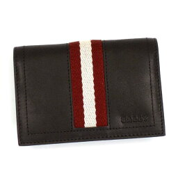 バリー バリー BALLY カードケース TRAINSPOTTING TOBEL BUSINESS CARD HOLDER CHOCOLATE RED/WHITE BR
