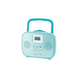 防滴・防水CDプレイヤー コイズミ ワイドFM対応シャワーCDラジオ(ブルー) SAD-4309-A お風呂 CD ラジオ 防水 防災 非常用(代引不可)
