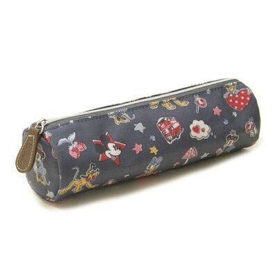 Cath Kidston ペンケース DISNEY TUBE PENCIL CASE 732093 レディース Slate Grey Mickey & Minnie Little Patches【送料無料】