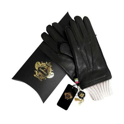 OROBIANCO オロビアンコ メンズ手袋 ORM-1405 Leather glove 羊革 ウール DARKBROWN サイズ:8(23cm) プレゼント クリスマス【送料無料】