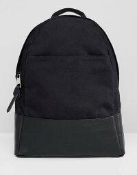 エイソス エイソス レディース バックパック・リュックサック バッグ ASOS DESIGN large canvas backpack Black