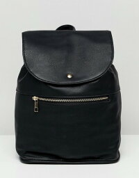 エイソス エイソス レディース バックパック・リュックサック バッグ ASOS DESIGN soft backpack with zip detail Black