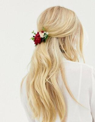 エイソス レディース ヘアアクセサリー アクセサリー ASOS DESIGN back hair crown in mixed florals Multi