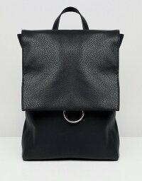 エイソス エイソス レディース バックパック・リュックサック バッグ ASOS DESIGN ring flap backpack Black