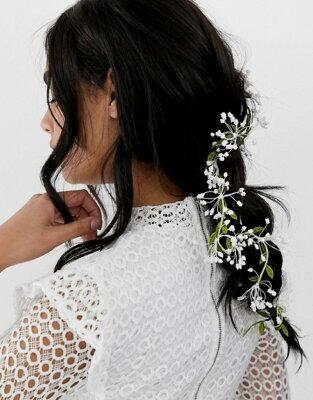 エイソス レディース ヘアアクセサリー アクセサリー ASOS DESIGN hair clip with floral leaf and vine detail Multi