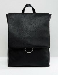 エイソス エイソス レディース バックパック・リュックサック バッグ ASOS Ring Flap Backpack Black