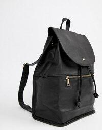 エイソス エイソス レディース バックパック・リュックサック バッグ ASOS Soft Backpack with Zip Detail Black