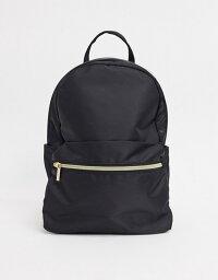 エイソス エイソス レディース バックパック・リュックサック バッグ ASOS DESIGN simple backpack with front pocket in black Black