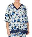 ダナ・キャラン ダナキャラン レディース ナイトウェア アンダーウェア Plus Floral Print Stretch Knit Sleep Top Floral Print