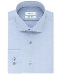 カルバン・クライン カルバンクライン メンズ シャツ トップス Calvin Klein Men's STEEL Extra-Slim Fit Non-Iron Performance Herringbone Dress Shirt Blue