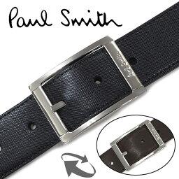 ポールスミス ベルト(メンズ) ベルト メンズ ブランド【Paul Smith】ポールスミス ベルト(リバーシブル&フリーサイズ)メンズベルト ブラック/ブラウン 4437【送料無料】