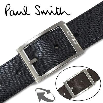 ベルト メンズ ブランド【Paul Smith】ポールスミス ベルト(リバーシブル) メンズベルト ブラック/ブラウン 4437【送料無料】