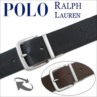 ベルト メンズ ブランド ポロ ラルフローレン【POLO RALPH LAUREN】 ベルトメンズベルト リバーシブル(ブラック/ブラウン) 9514【送料無料】