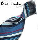 ポールスミス ネクタイ ポールスミス ネクタイ PS12 ブルー/ネイビー系マルチストライプ 8cm幅 【Paul Smith・ポールスミスネクタイ】【ネクタイ ブランド・ブランドネクタイ】 【送料無料】
