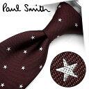 ポールスミス ネクタイ ポールスミス ネクタイ PS53 ボルドー/ホワイト 8cm幅 【Paul Smith・ポールスミスネクタイ・ネクタイ ブランド】【送料無料】