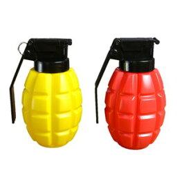 ソープディスペンサー ハンドボンブ 調味料入れ 手榴弾 プラスチック 赤 黄 2個セット コンディメント ディスペンサー ハンドグレネード MK2 パイナップル 薬味入れ 香辛料入れ スパイスケース キッチン雑貨 生活雑貨