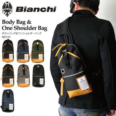 【送料無料】Bianchi(ビアンキ) ボディバッグ ワンショルダーバッグ メンズ レディース【コンビニ受取対応商品】
