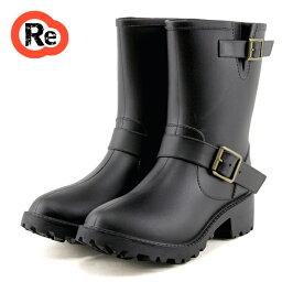 エンジニアレインブーツ レインブーツ エンジニアブーツ 完全防水ショートブーツ 5-611 長靴 黒 レディース靴 雨靴雪対策 秋ブーツ 靴 レディース コスプレ