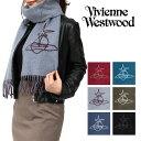 ヴィヴィアンウエストウッド マフラー(レディース) Vivienne Westwood マフラー ヴィヴィアン ウエストウッド 【 17AW 柄 ヴィヴィアン ウール ストール コレクションモデル 】【即日発送】