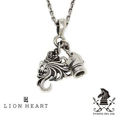 LION HEART × PUERTA DEL SOL 2チャームコラボネックレス/ミディアムハウル 01NE1231SV ライオンハート × プエルタ デル ソル シルバー ネックレス [LH]