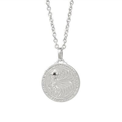 ライオンハート HOWL ハウルコインネックレス/アズキチェーン 01NE0521BK LION HEART シルバー ネックレス ライオンハートネックレス [LH]