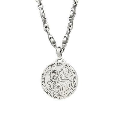 ライオンハート HOWL ハウルコインネックレス/ファングチェーン 01NE0531BK LION HEART シルバー ネックレス ライオンハートネックレス [LH]