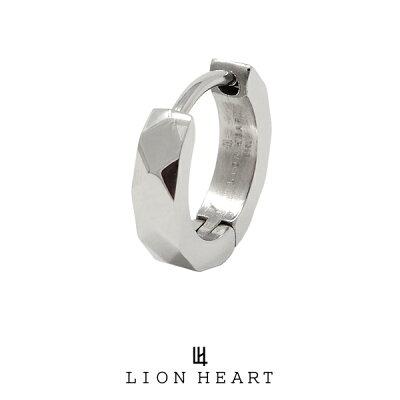 ライオンハート LH-1 Monotone フープピアス シルバー 03EA0015SV LION HEART ステンレスピアス 1点売り 片耳用 メンズ [LH]