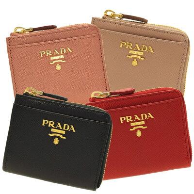 5de623eda3a6 PRADA プラダ コインケース 小銭入れ L字ファスナー 1ml025 | ミニウォレット コンパクト レディース かわいい