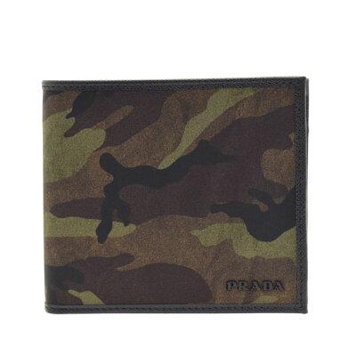 プラダ 財布 二つ折り PRADA メンズ カモフラージュ 2mo738tescam-mime