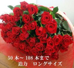 60本のバラ バラ 花束 50本 5980円!100本 還暦祝 60本 赤バラにも調整OKお祝・誕生日 歓送迎会 薔薇 ロングサイズ50cm プロポーズ プレゼント サプライズ 卒業 入学 歓送迎