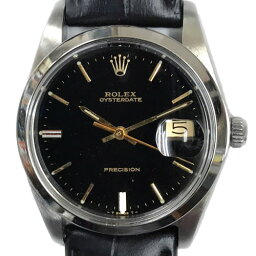 オイスター 腕時計(メンズ) ROLEX OYSTER DATE オイスターデイト SS 1960's 手巻き式 オリジナル文字