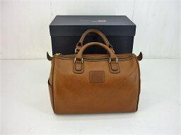 ボストンバッグ BURBERRYS レザーミニボストンバッグ バーバリーズ ブラウン 箱・保存袋あり