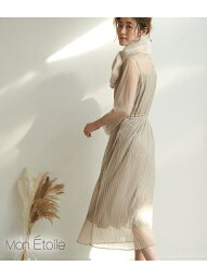 ロペ ドレス [Rakuten Fashion]【一部店舗限定】【WEB限定】【MonE'toile】【結婚式にも】チュールプリーツドレス ROPE' PICNIC ロペピクニック ワンピース ワンピースその他 グリーン ブルー ピンク【送料無料】