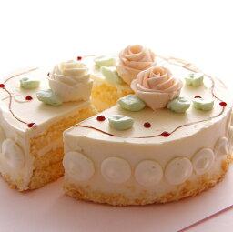 バターケーキ バタークリームケーキ 5号サイズ ホワイトデー ケーキ  バター ケーキ (5号15cm・4名〜5名)ホールケーキ 誕生日ケーキ ひな祭り