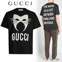 グッチ 5 GUCCI グッチ 19aw MANIFEST マニフェスト オーバーサイズ クルーネック ブラック 半袖 Tシャツ 565806 XJBTX
