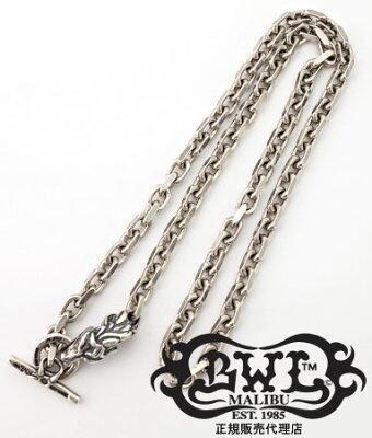 送料無料 BWL ビルウォールレザー Bill Wall Leather / スクウェア チェーン w/アニマルヘッド ネックレス 21inch 【 メンズ レディース シルバー おしゃれ 】