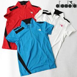 ディアドラ テニスウェア ディアドラ DIADORA レディース DOS7339A ゲームシャツ 2010 トップス ウェア ポロ 運動 スポーツ フィットネス ジム UV 吸汗 速乾 半袖シャツ ゆうパケット対応