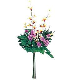 デンドロビウム ★造花 フラワー 観葉植物 アレンジ 花束 85cm デンドロビウム トロピカルアレンジ [FLGD3660]【フェイク グリーン アレンジメント 花束】