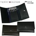トミーヒルフィガー キーケース(メンズ) (対象商品と同梱で送料無料)トミーヒルフィガー TOMMY HILFIGER キーケース31TL17X005 BLACK/ブラック(16) BROWN/ブラウン(17)メンズ レディース レザー 【CPT】