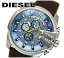 腕時計 ディーゼル(メンズ) 【レビューを書いて5年保証】DIESEL ディーゼル時計 腕時計 メンズレザー ブルー ブラウン DZ4281【ID】【G2】 青い腕時計