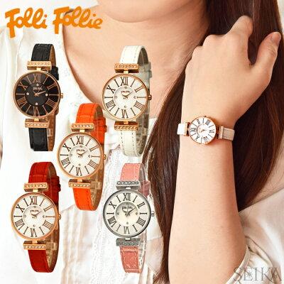 フォリフォリ Folli Follie レディース 時計 腕時計【WF13B014】ブラック ホワイト レッド ピンク オレンジ